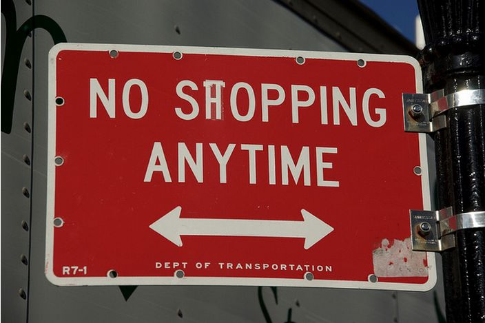 No shopping anytime